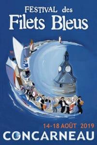 Affiche officielle du Festival des Filets Bleus à Concarneau en 2019